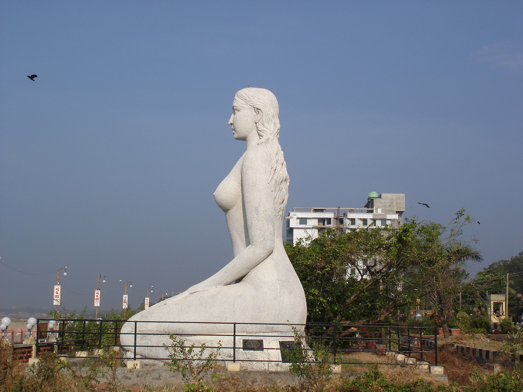 Mermaid at Kollam Beach