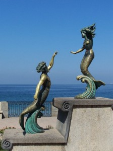 Triton and Nereida sculpture