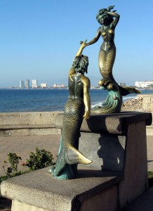 Triton and Nereida sculpture