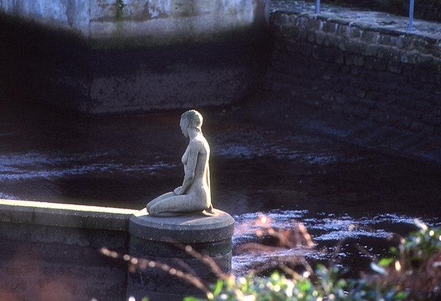 Mermaid Statue in Lancashire.