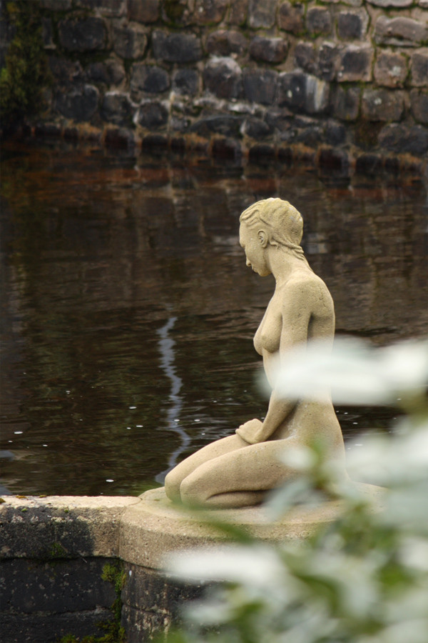Unexpected statue at Langden water intake, Sykes, Trough of Bowland, Forest of Bowland AONB, Lancashire, UK