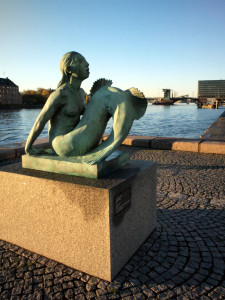 The Smaller Mermaid Statue